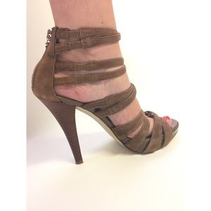 Guess by Marciano Brown Suede Heels - size 7